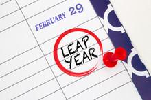 Close Up A Calendar On Februar...