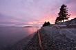 canvas print picture - Sechelt Beach Sunset, Sunshine Coast, BC
