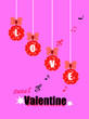 canvas print picture - Valentines poster with colorful ball and text Sweet Valentines ,love