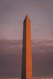 The Washington Monument at sunset, in Washington, DC