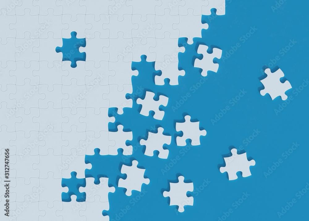 Fototapeta Pieces of puzzle 3d rendering