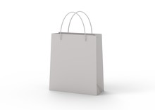 Shopping Bag Isolated On White...