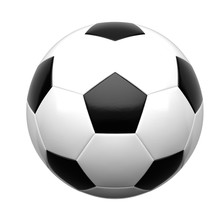 Soccer Ball Isolated On White Background 3d Rendering