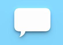 Speech Bubble On Blue Background 3d Rendering