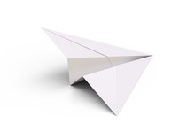 Paper Plane Isolated On White ...