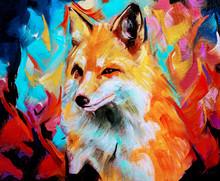 Wild Fox Illustration In Oils ...