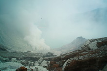 Ijen Crater Is A Acidic Crater...
