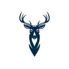 Wild Elk Or Deer With Antlers ...