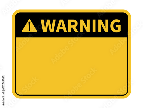 Warning sign. Blank warning sign. Vector illustration Canvas