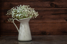 White Bouquet Of Gypsophila In...