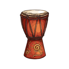 Djembe Drum African Musical In...