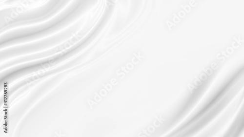 Obraz na plátně White luxury cloth background with copy space
