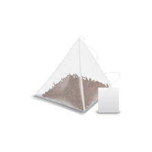 Teabag Pyramid With Label Isol...