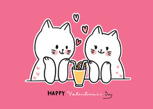Cartoon Cute Valentines Day Wh...