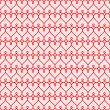 Red Hearts Seamless Background Vector Background For Valentines Day Calligraphic Hearts For Declaration Of Love At First Sight