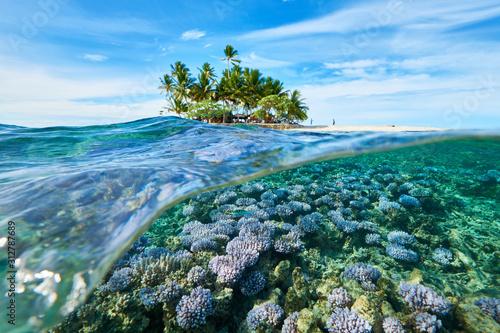 Obraz House reef and uninhabited island_1 - fototapety do salonu