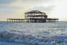 The West Pier Is A Pier In Brighton, England. On 28 March 2003 The Pavilion At The Pier-head Caught Fire.