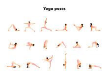 Tiny Women Performing Yoga Po...