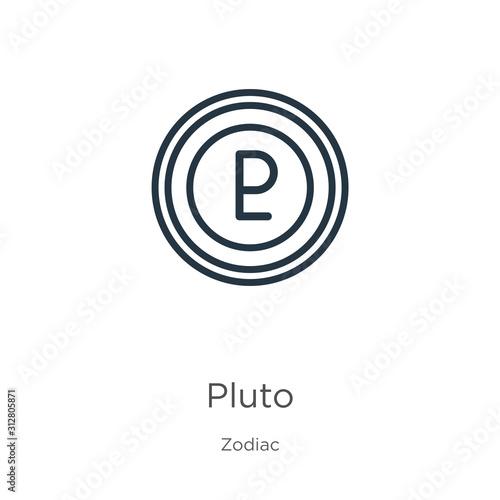 Pluto icon Wallpaper Mural