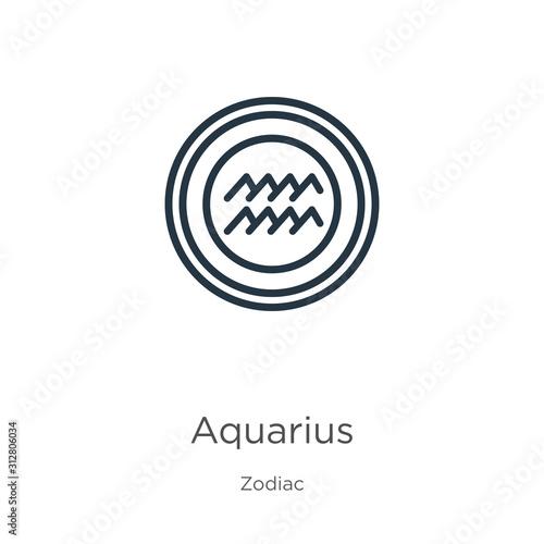 Aquarius icon Canvas Print