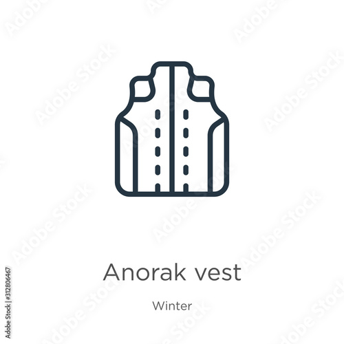 Anorak vest icon Wallpaper Mural