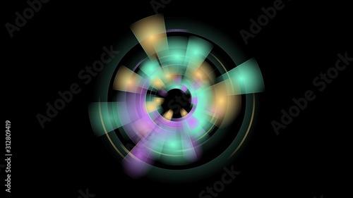 фотография Technologie-Kreis Hintergrund, abstraktes Design für Poster, Buch, Webseite, Bro