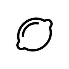 Lemon Icon Vector. A Thin Line...
