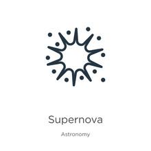 Supernova Icon. Thin Linear Su...