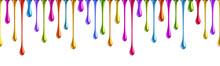 Seamless Colorful Nail Polish Drops