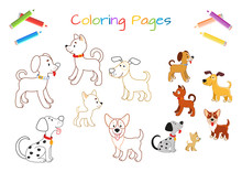 Funny Little Dog. Coloring Boo...