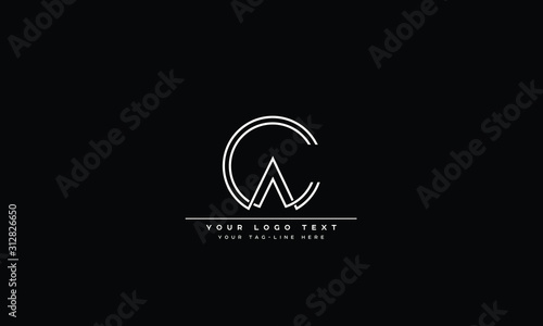 CA ,AC ,C ,A Letter Logo Design with Creative Modern Trendy Typography Canvas Print
