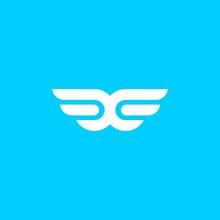 Simple W Wings Logo
