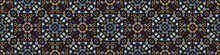 Dark Floral Mosaic Effect Vect...