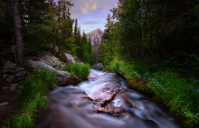 Long Exposure Of A River In Th...