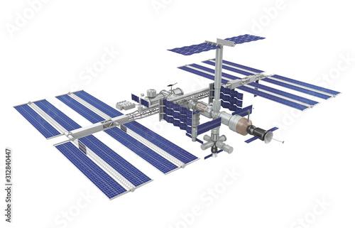 Obraz International Space Station Isolated - fototapety do salonu