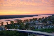 The Sunset Over Mississippi Ri...