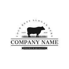 Cattle Angus Farm Logo Inspira...