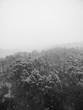 Leinwanddruck Bild - 한국의 눈내린 겨울산 풍경