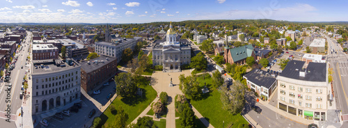 New Hampshire State House aerial view panorama, Concord, New Hampshire NH, USA Fotobehang