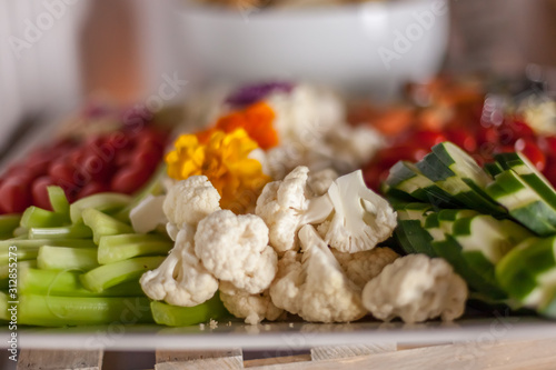 Photo vegetable appetizers at party