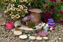 Funny Fairy Dollhouse On Woode...