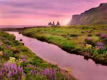 A Beautiful Landscape In Vik, ...