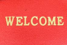 The Doormat Of Welcome Text