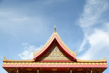 Roof Of Wat Pho Chai At Nong Khai, Thailand