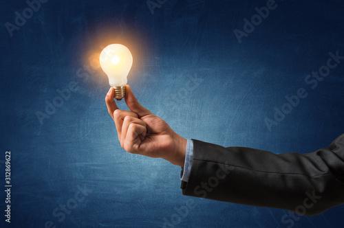 Glass light bulb . Mixed media Wallpaper Mural
