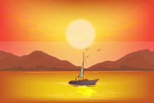 The Sun Is Setting The Horizon...