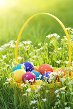 Easter Time. Multi-colored Eas...