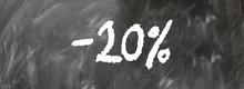 20% Discount Web Sticker Button