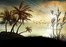 Illustration Of Sunrise The Be...