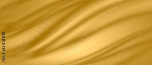 Fotografie, Obraz Gold luxury fabric background with copy space